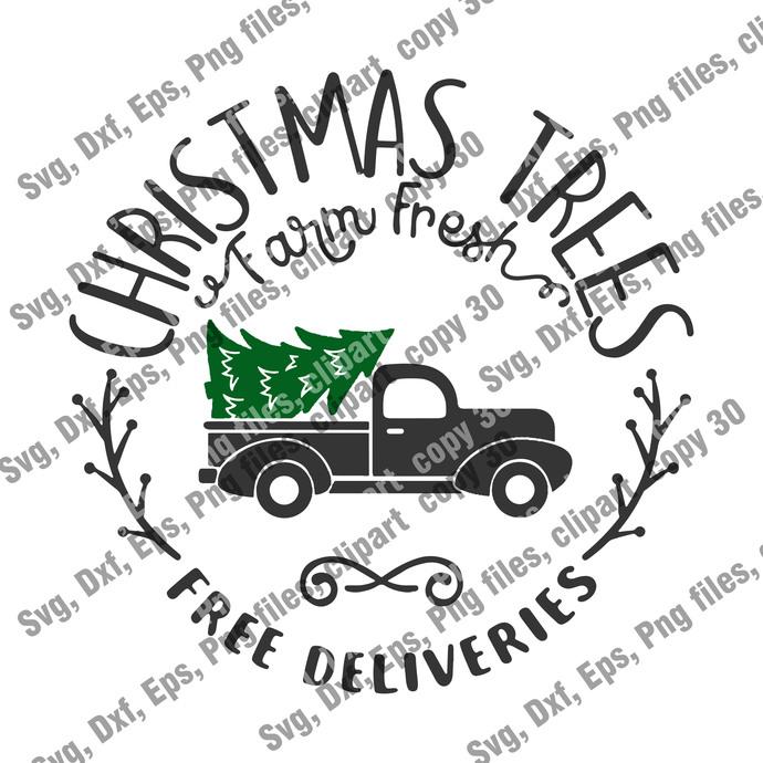 Christmas Cut file, Christmas Trees Free Deliverise SVG, Christmas Svg,