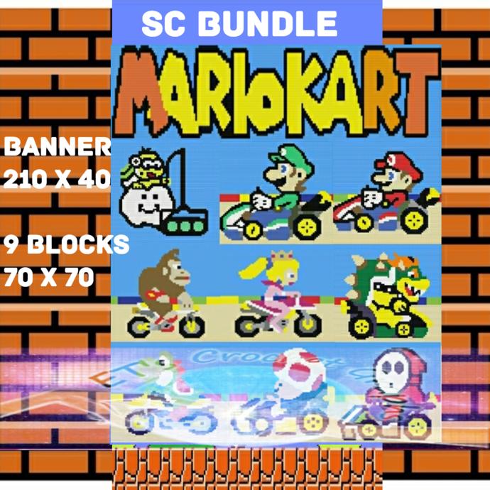 Mario Kart SC Panel Bundle - includes graphs & written color block charts