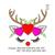 Reindeer face Applique embroidery design,Deer embroidery design Deer antlers