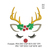 Reindeer face embroidery design,Deer embroidery design Deer antlers embroidery