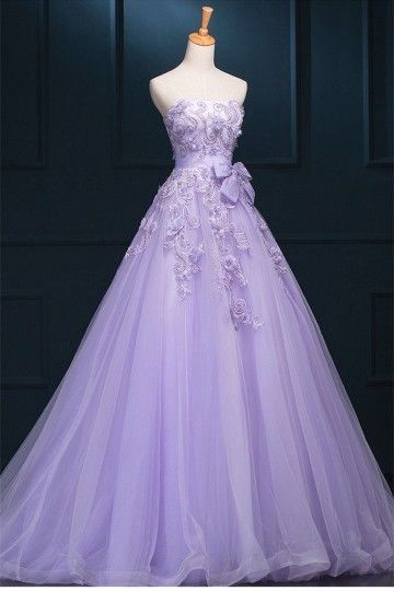 Light Purple Tulle Sweet 16 Dress, Ball Gown Formal Party Dress