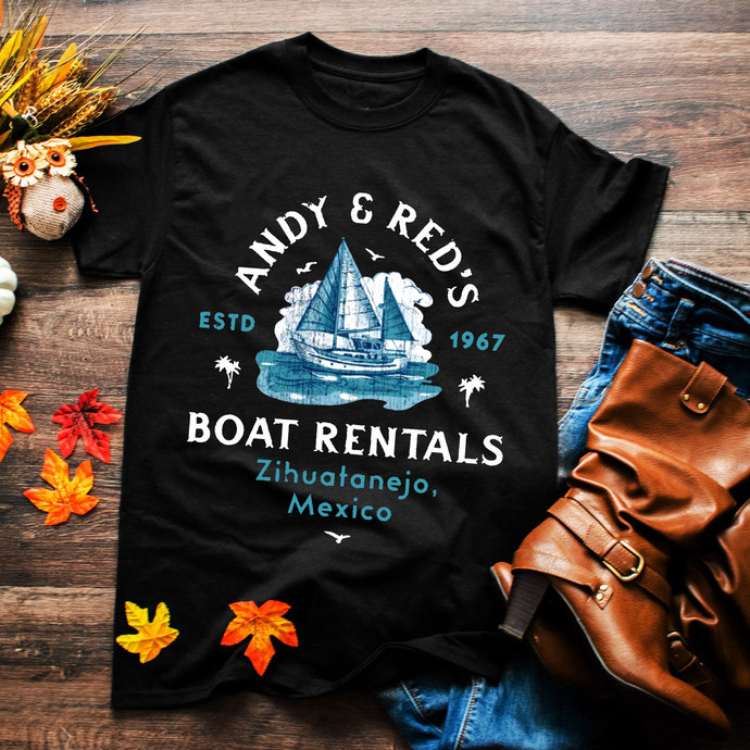 Andy & Red's, Boat rentals, mexico, mexican, mexico shirt, boat svg, vintage
