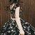 Chic Black Lace Flowers Cap Sleeves Homecoming Dress Unique Graduation Dress