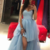 Sweetheart Hi-Lo Tulle Blue Long Prom Dresses With Train