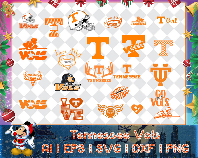 Tennessee Vols svg, Tennessee Vols digital, Tennessee Vols silhouette cut files,