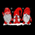 gnomes design, gnomes red png, Three gnomes in red costume Christmas, Three