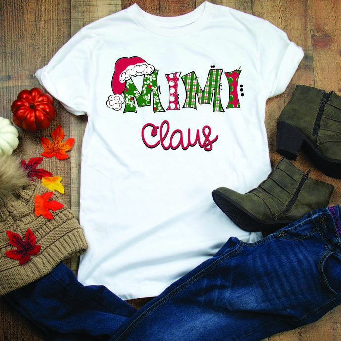Mimi Claus, mimi, mothers day, mother, family, santa hat, Winter, Christmas,