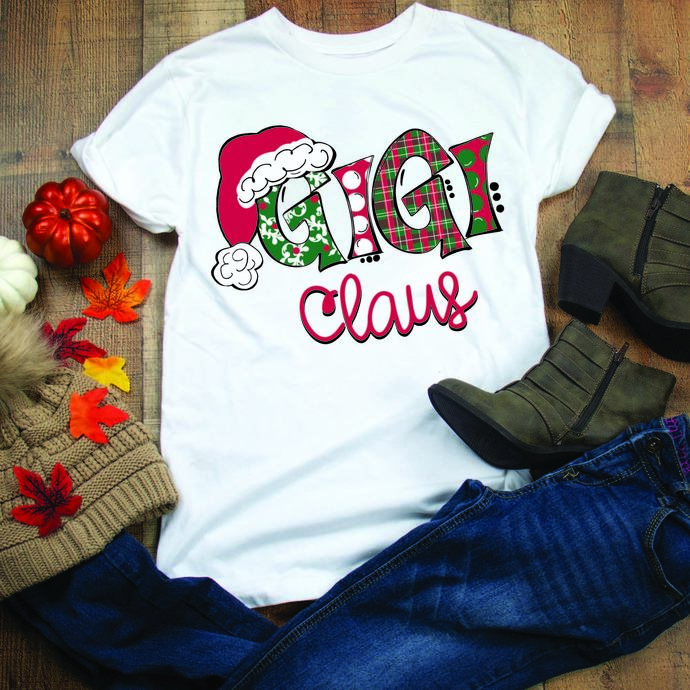 Gigi Claus, gigi, mothers day, mother, family, santa hat, Winter, Christmas,