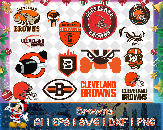 Cleveland Browns svg, Cleveland Browns digital, Cleveland Browns silhouette cut