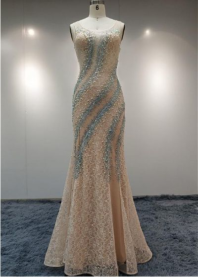 Mermaid Beaded Prom Dresses,Fancy Dresses,Prom Dress,Prom Dresses,Long Prom