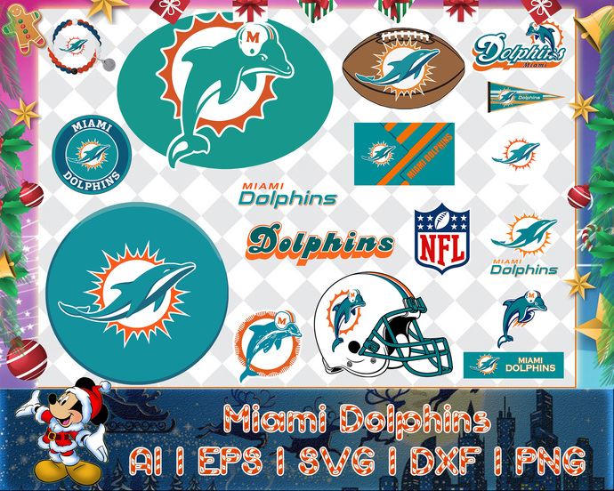 Miami Dolphins svg, Miami Dolphins digital, Miami Dolphins silhouette cut files,