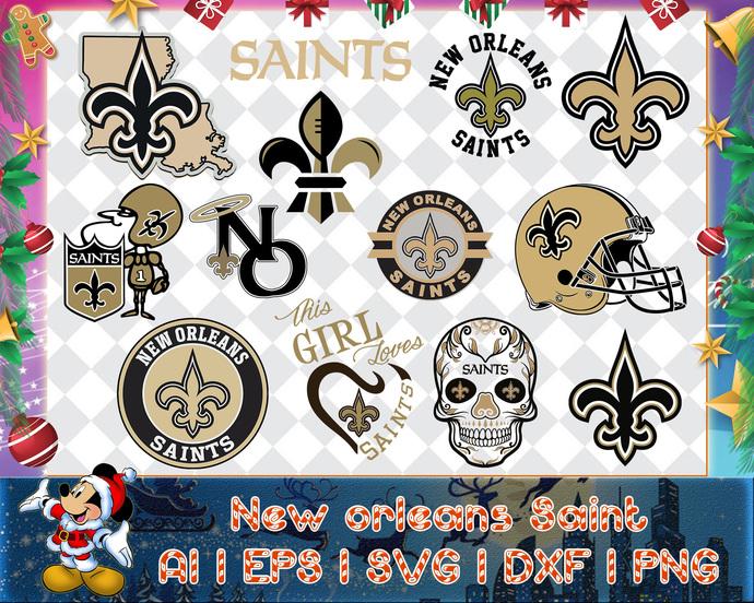 New Orleans Saint svg, New Orleans Saint digital, New Orleans Saint silhouette