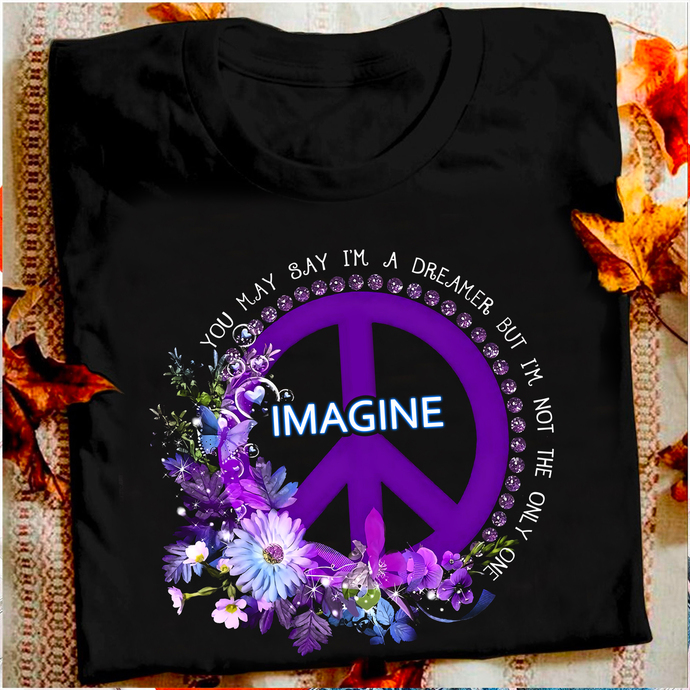 Imagine PNG,You May Say I'm A Dreamer But I'm Not The Only One png, Peace Sign -