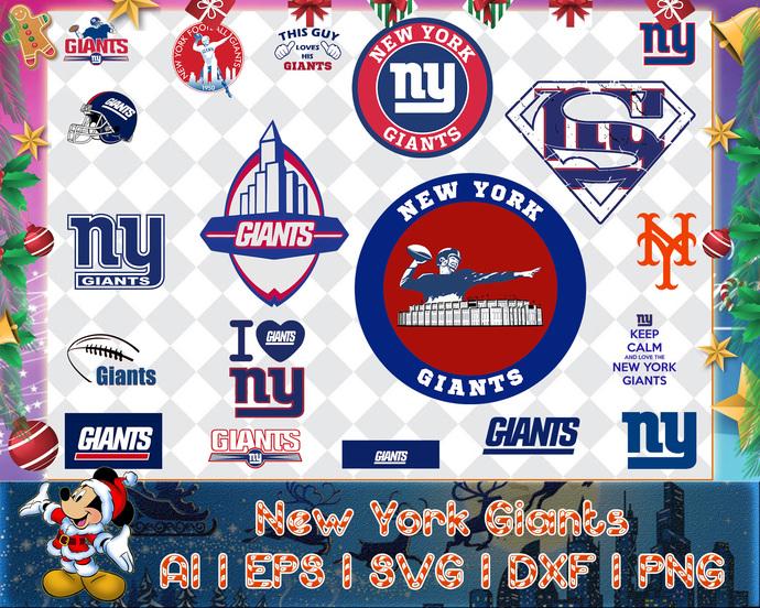 New York Giants svg, New York Giants digital, New York Giants silhouette cut