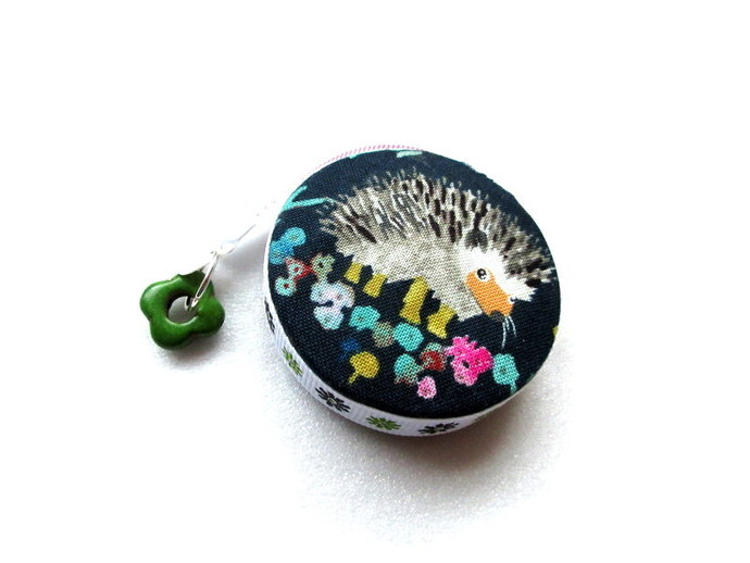 Measuring Tape Flowers and Hedgehogs Retractable  Pocket Tape Measure