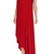 One Shoulder Dress Red Evening Gown Open Back A-line Dress Plus Size Formal Gown