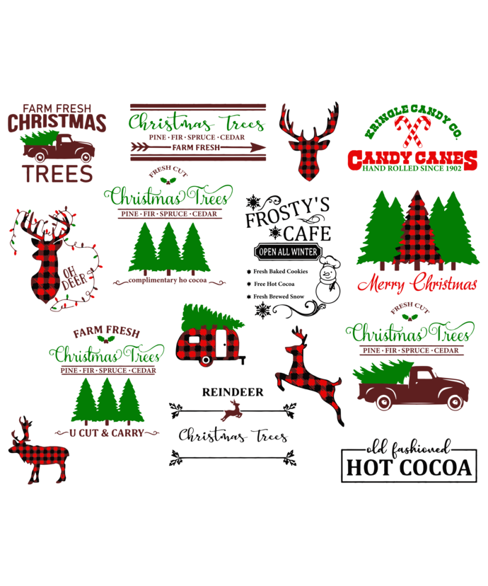 Wild Christmas Tree Leopard Marquee Buffalo Plaid, christmas tree, merry