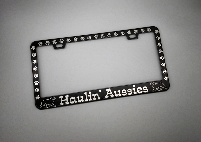 Laser engraved License Plate Frames