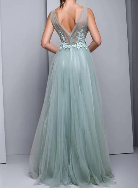 Tulle Evening Dress,Prom Dresses P2207