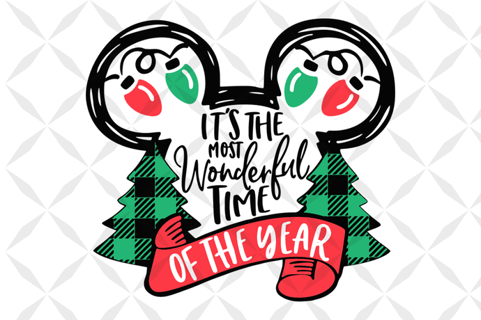 It's my favorite time of the year,Mickey head, christmas lights svg, disney
