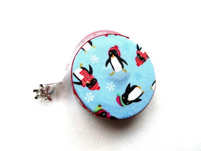 Tape Measure Snowy Penguins Fabric Retractable Measuring Tape