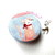 Small Tape Measure Gray and Pink Cats Retractable Measuring Tape