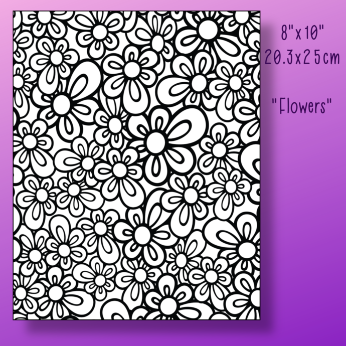"""""""Flowers"""" Paint Your own Canvas Masterpiece. Flat Canvas"""