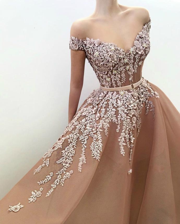 Stunning Off-the-Shoulder Sexy Evening Dress Organza Prom Dress P2231