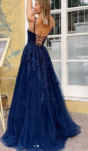 Unique Long Prom Dress With Applique Fashion Dance Evening Dress G5288