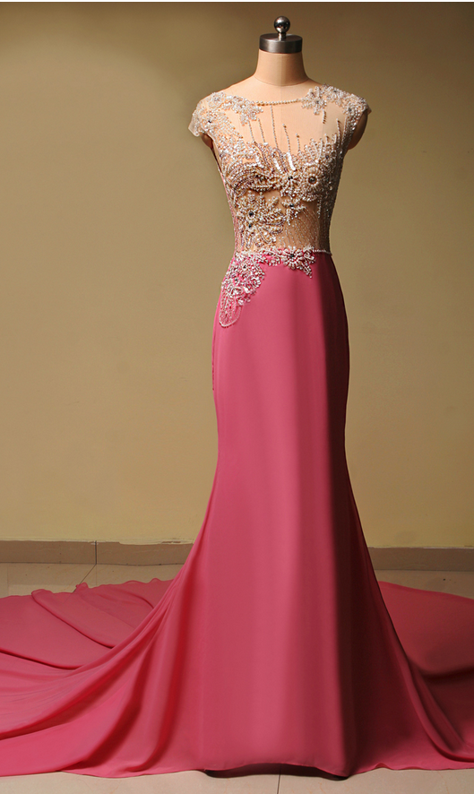Vestido de Festa Curto Renda Long Prom Dresses, Mermaid Elegant rom Dress P2244