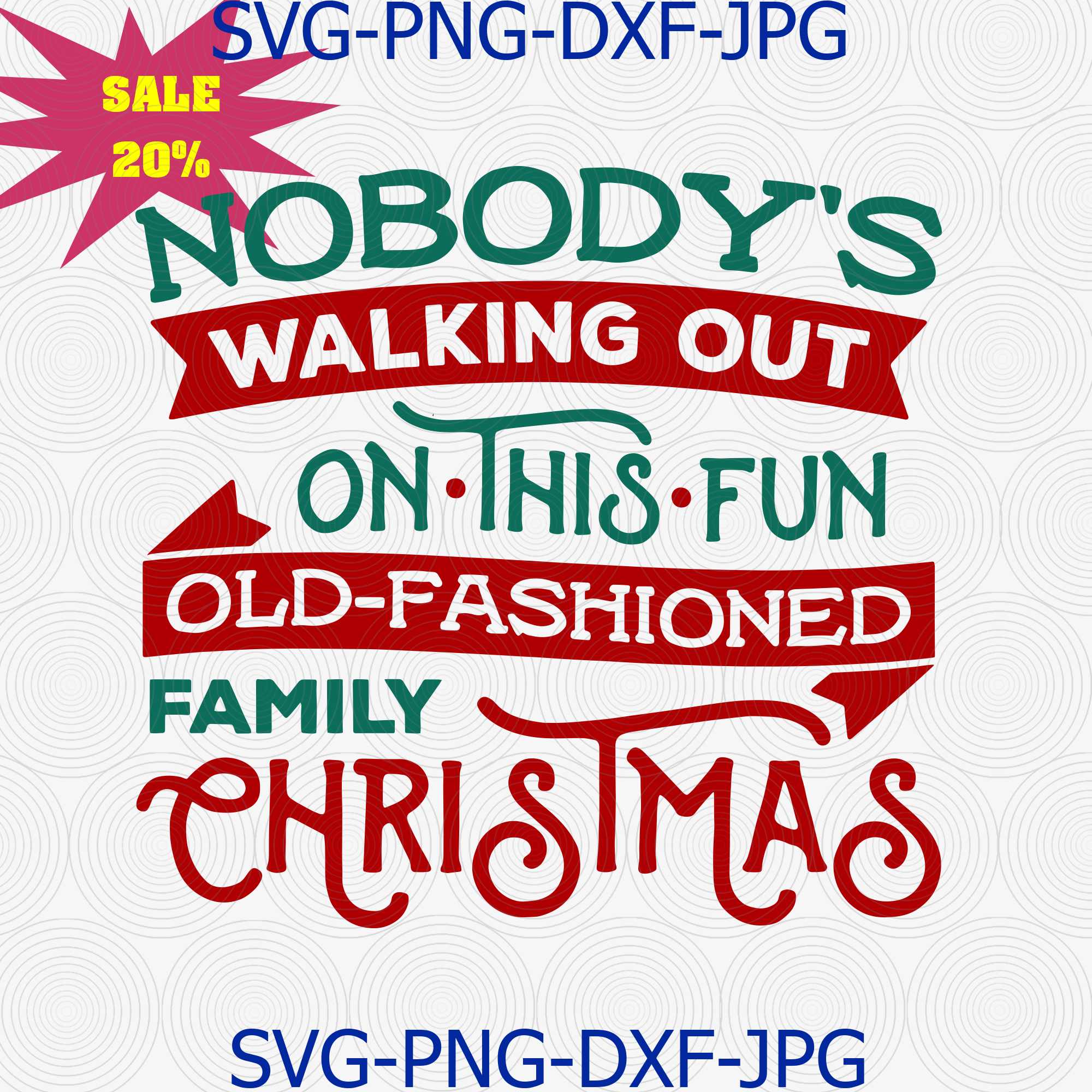 Christmas Vacation Svg Nobody Walking Out On By Digital4u On Zibbet