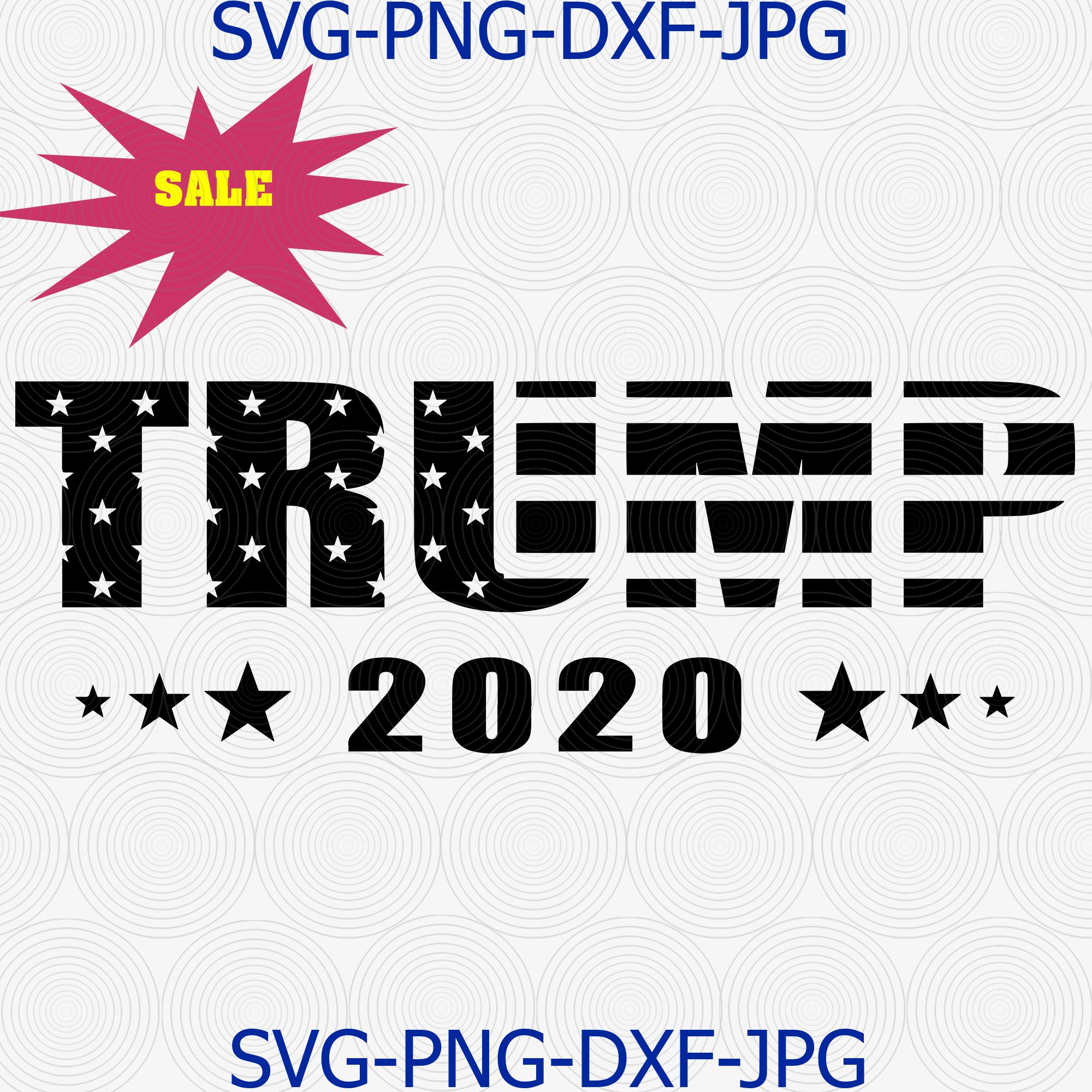 Trump 2020 Svg Make America Great Again By Digital4u On Zibbet