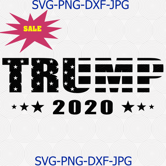 Trump 2020 svg, Make America Great Again, Election 2020, American Flag Text,