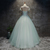 Beautiful Green Tulle Round Neckline Lace-up Party Gown, Sweet 16 Dresses