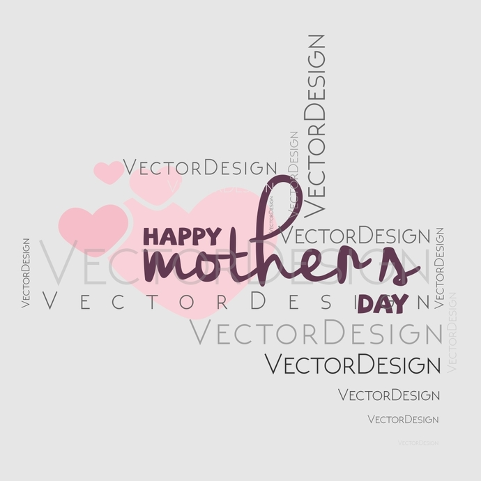 Happy mothers day v4 Graphics SVG Dxf EPS Png Cdr Ai Pdf Vector Art Clipart
