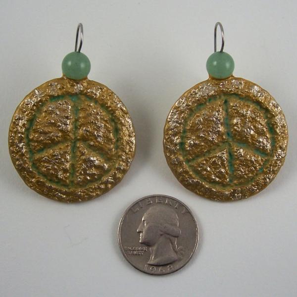 Peace Symbol Earrings - Bold and Chunky