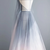 Sexy Gray Tulle Open Back Long A Line Prom Dress Evening Dress H5968