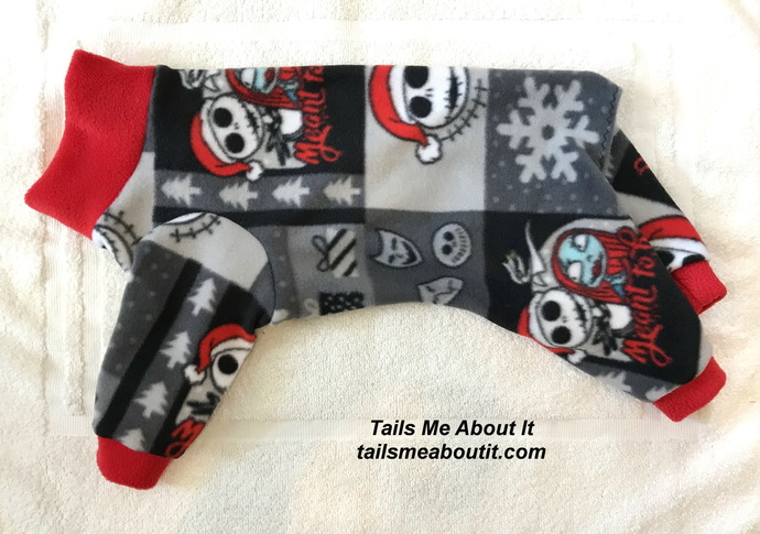 Jack Skellington A Night Before Christmas Fleece Dog Pajama - Small Dog Pajama