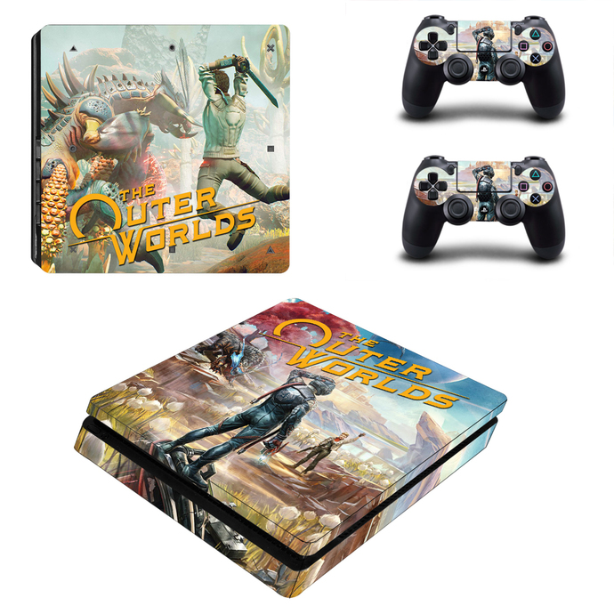 The Outer Worlds ps4 slim skin decal for console and controllers