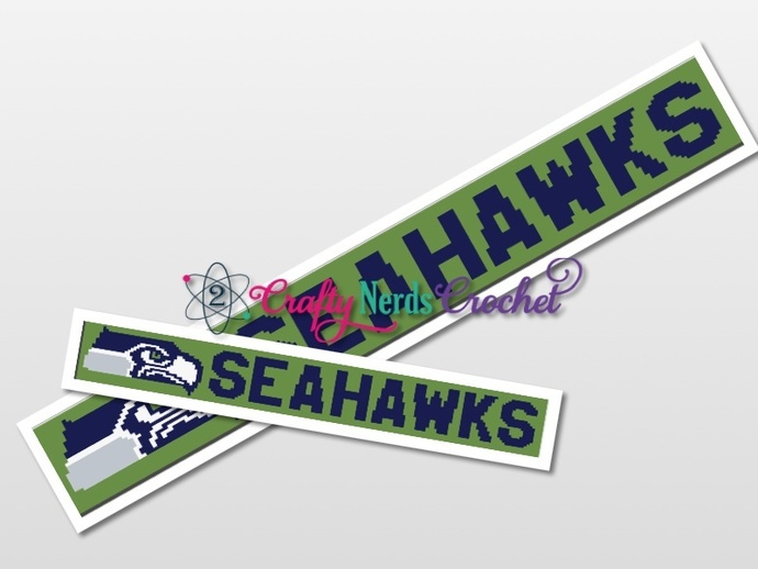 Seahawks HDC Scarf Pattern Graph With HDC Written