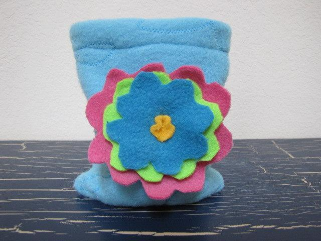 Drawstring Pouch Dice Bag - Big Flower