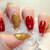 Christmas Press on Nails,Plaid Red Gold Nails, Stiletto Coffin Almond Oval