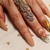 Nude Press on Nails, Rustic Nails, Floral Nails, Stiletto Coffin Almond Oval