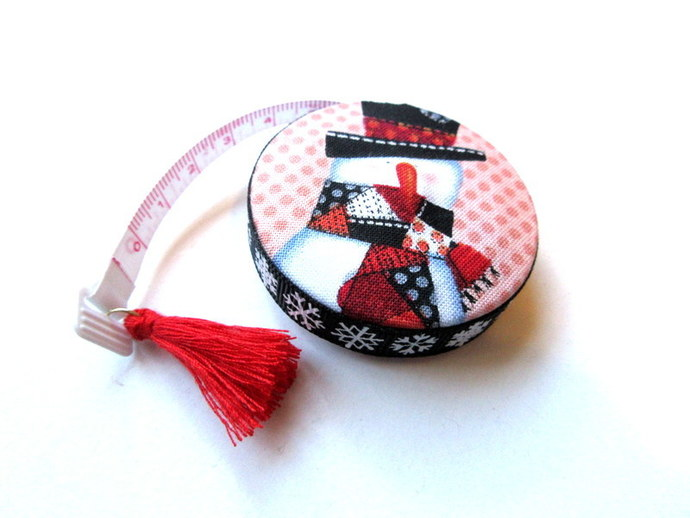 Tape Measure Country Snowmen Small Retractable Measuring Tape