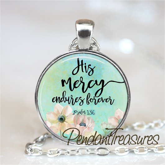 BIBLE VERSE Necklace Pendant or Keychain Keyring, Christian Gift, Religious