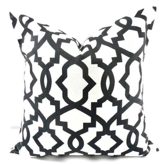Farmhouse Pillow cover, Black & White Pillow Cover, Sheffield charcoal black