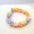 Girls flower and heart pastel bracelet ( unicorn style) handmade polymer clay