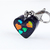 Holo Hearts Charm with Clip, Zipper Pulls, Purple, Resin Charms, Pet Jewelry
