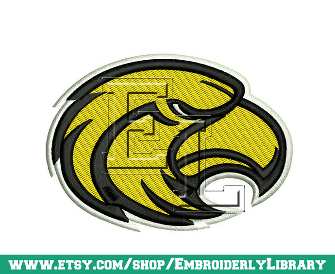Football Machine Embroidery Designs (southern eagles) Size 3x3.  Instant