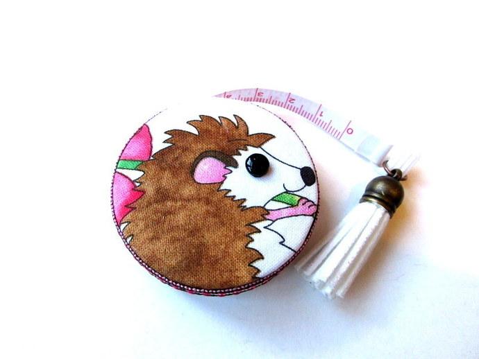 Tape Measure Cartoon Hedgehogs and Flowers Retractable Measuring Tape
